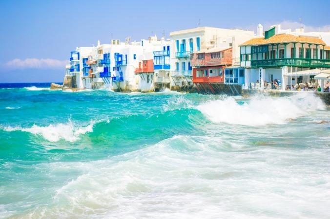 Little Venice en la isla de Mykonos en Grecia