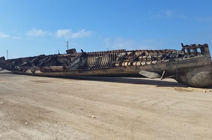 Reciclauto Navarra extrae del agua el submarino MARSOPA para su reciclaje final