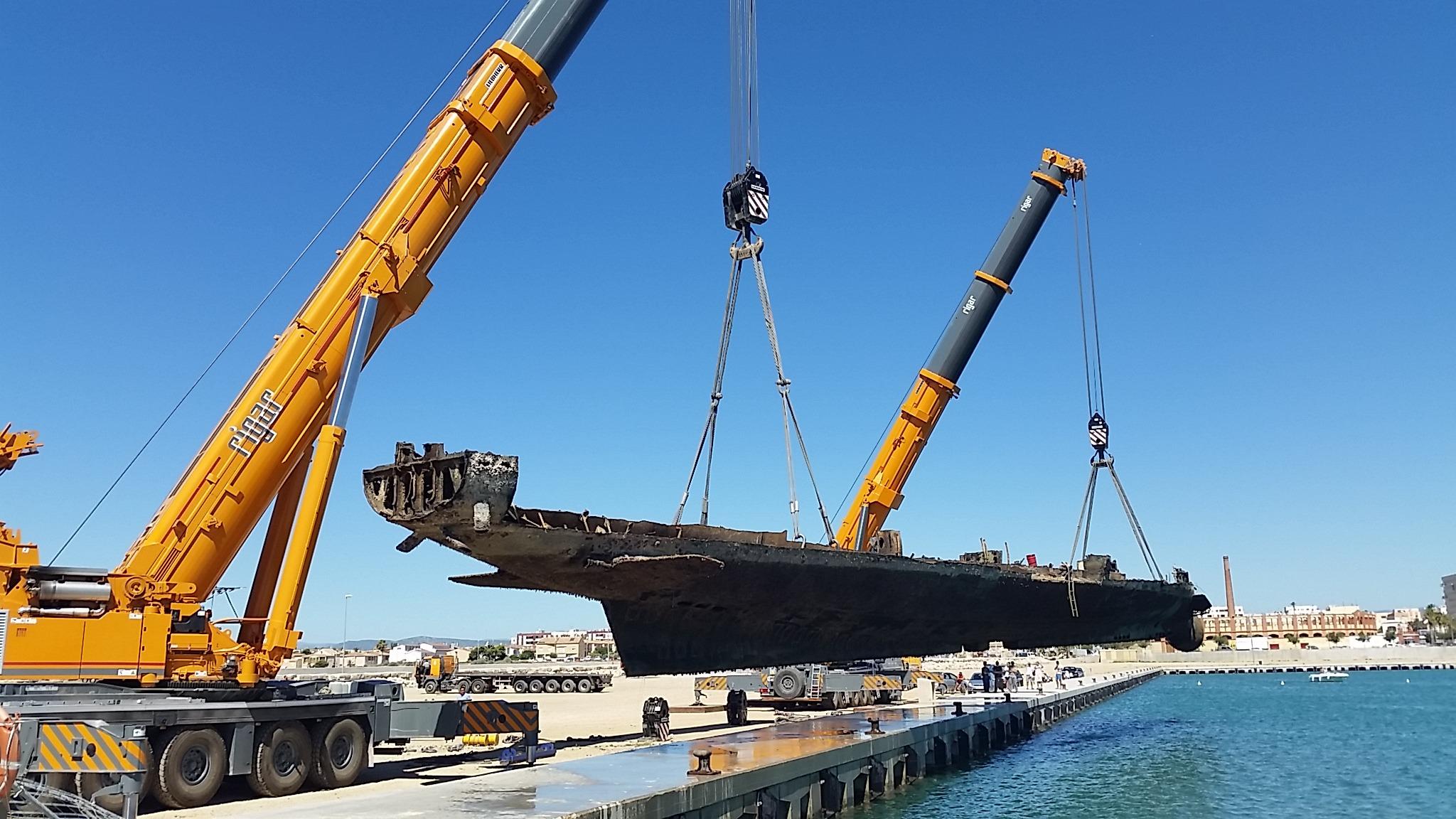 Reciclaje del Submarino MARSOPA a cargo de Reciclauto Navarra