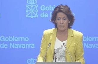 Yolanda Barcina, en su comparecencia de este miércoles