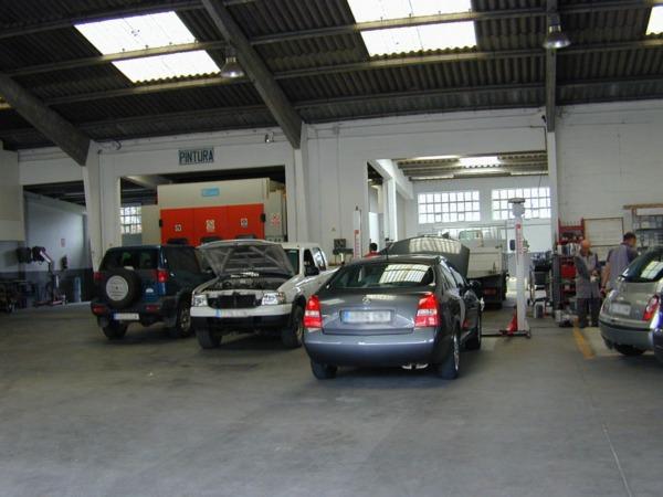 Imagen de un taller de coches de Navarra