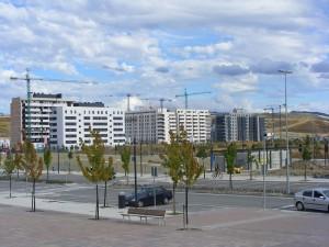 Bloque de viviendas en el nuevo barrio de Lezkairu