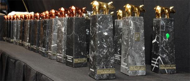 Imagen de los trofeos que se entregan en los Premios-Porc-D`or