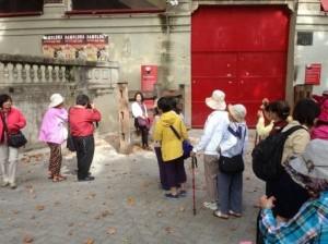 Turistas en la Plaza de Toros
