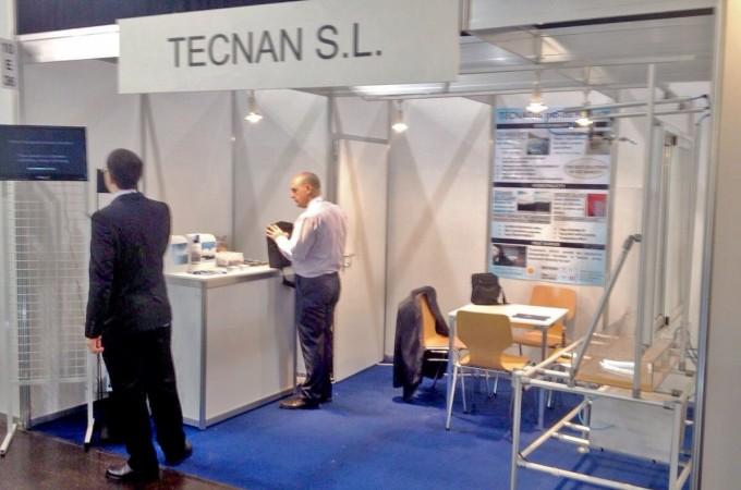 La empresa de nanotecnología TECNAN expone sus productos en la Feria Glasstec 2014