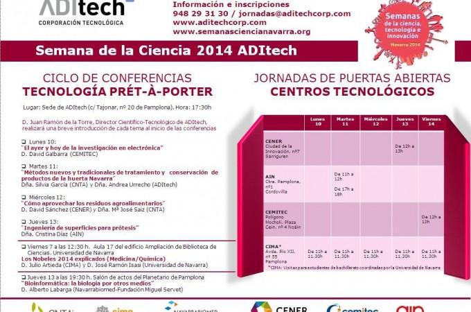 """ADItech celebra la Semana de la Ciencia con el ciclo de conferencias """"Tecnología Prét-à-Porter"""""""