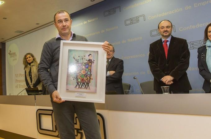 La empresa Ingeteam Power, ganadora del VI Premio Azul de Mutua Navarra a la promoción de la salud