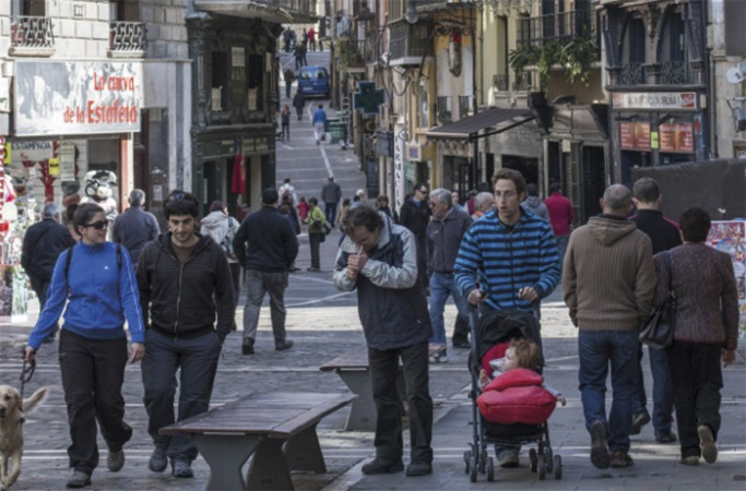 Los comerciantes del Casco Antiguo, muy críticos con el Ayuntamiento de Pamplona.