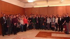 Encuentro de navarros en Bruselas el Día de Navarra.