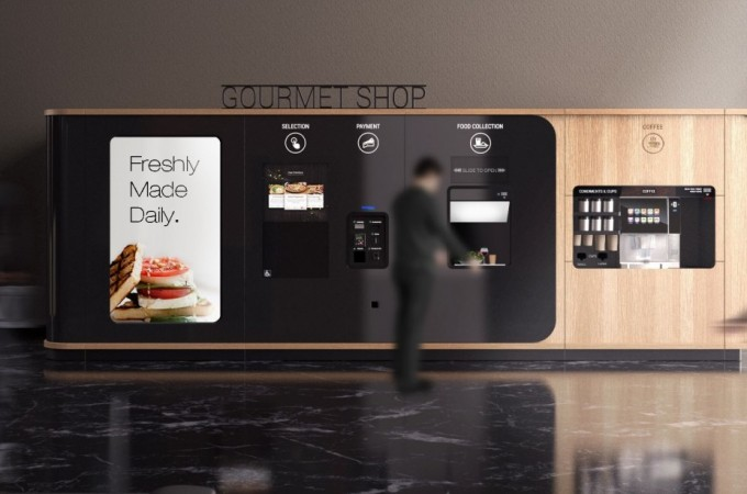Azkoyen lanza Button Gourmet, el primer self-service automático para comida gourmet del mercado
