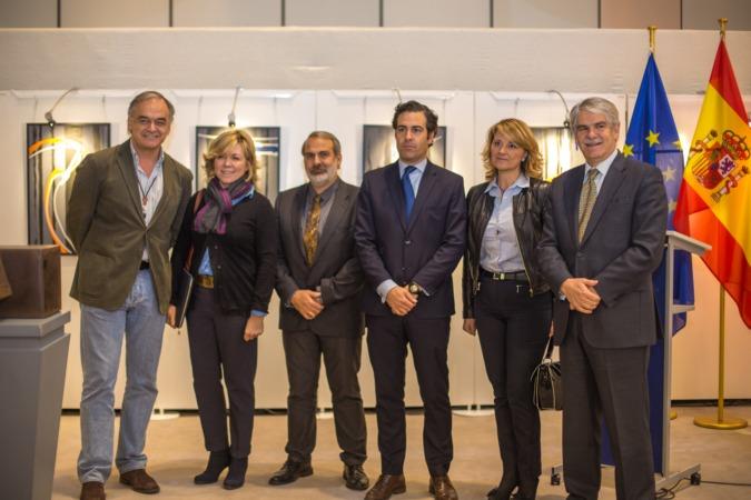 Pablo Zalba encabezó la inauguración de la exposición de Carlos Ciriza en la sede del Parlamento Europeo en Bruselas.