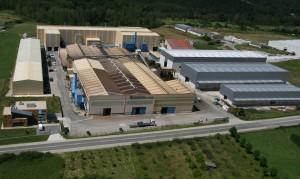 Imagen externa de la fábrica Sakana S. Coop., ubicada en Lacunza.