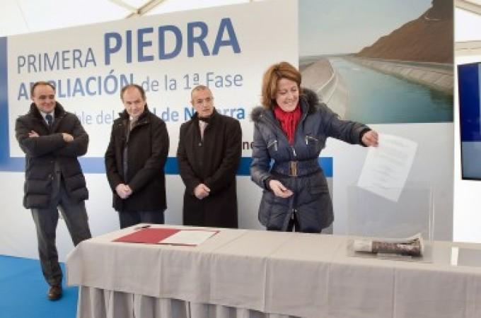 Se inician las obras de ampliación de la zona regable de la primera fase del Canal de Navarra