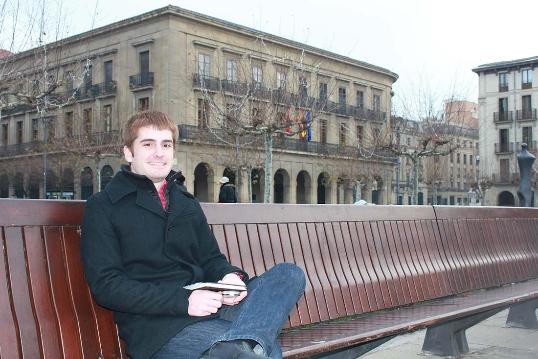 Imagen de Carlos Olite en Plaza del Castillo.