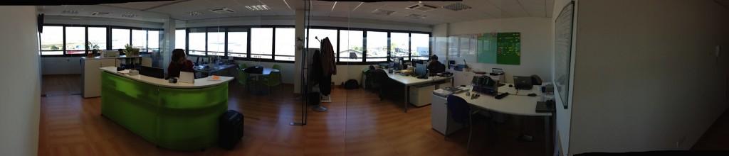 Oficinas AGAIN. Interior. Panorámica