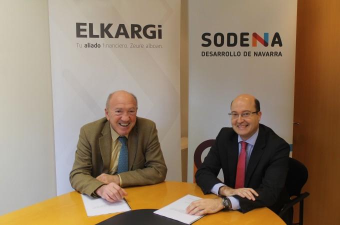 Sodena y Elkargi firman un convenio para facilitar la financiación de las pymes navarras