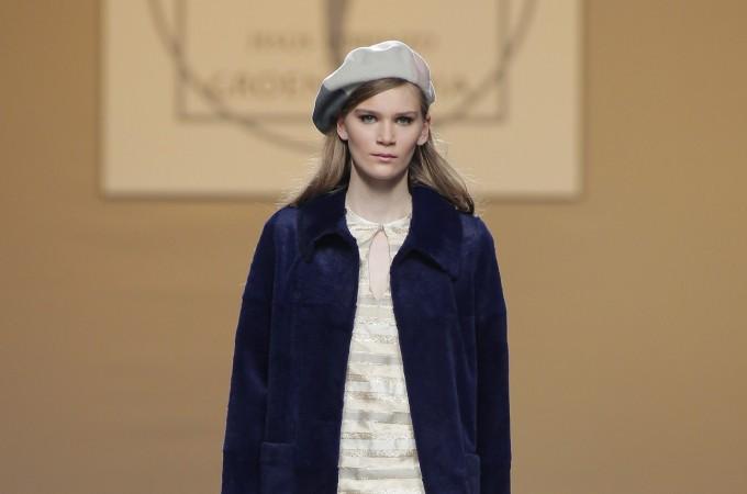 El diseñador navarro Jesús Lorenzo ha desfilado en la pasarela Mercedes-Benz Fashion Week de Madrid