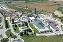 Vista de la fábrica de Smurfit Kappa en Sangüesa.