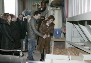 Visita de la presidenta Barcina a Copos Ulzama en 2013
