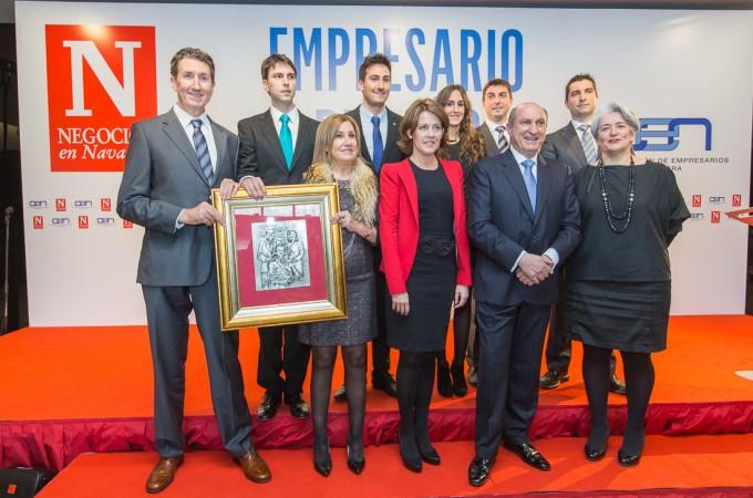 La familia Marín Fuentes, de Urzante, Premio Empresario del año 2014