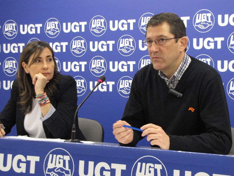 María Simón y Javier Lecumberri, UGT Navarra