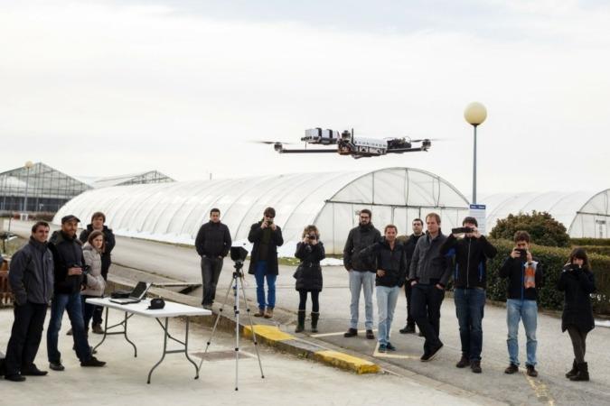 Dron-en-vuelo BIOMASA