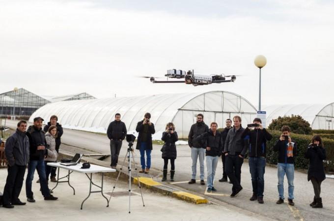 Un dron y un satélite para calcular la biomasa del campo navarro