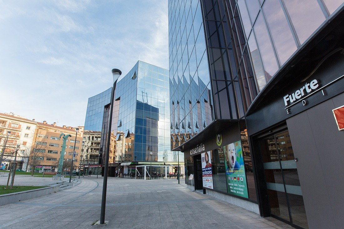 Edificios inteligentes situados en Pamplona.