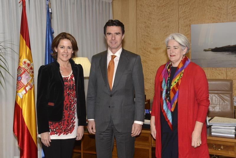 Yolanda Barcina, José Manuel Soria y Lourdes Goicoechea