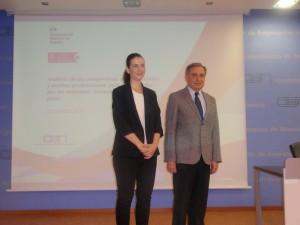 Silvia Díaz y Jose Antonio Sarría antes de la ponencia