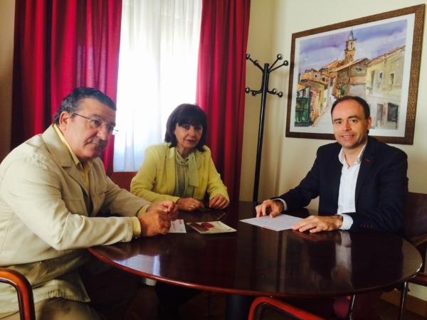 Promotres de TRASA con la alcaldes de Milagro, Yolanda Pérez
