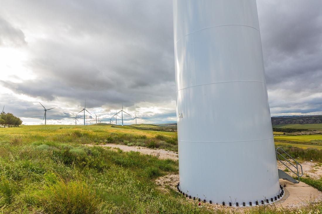 Planta de energía eólica de Funes.