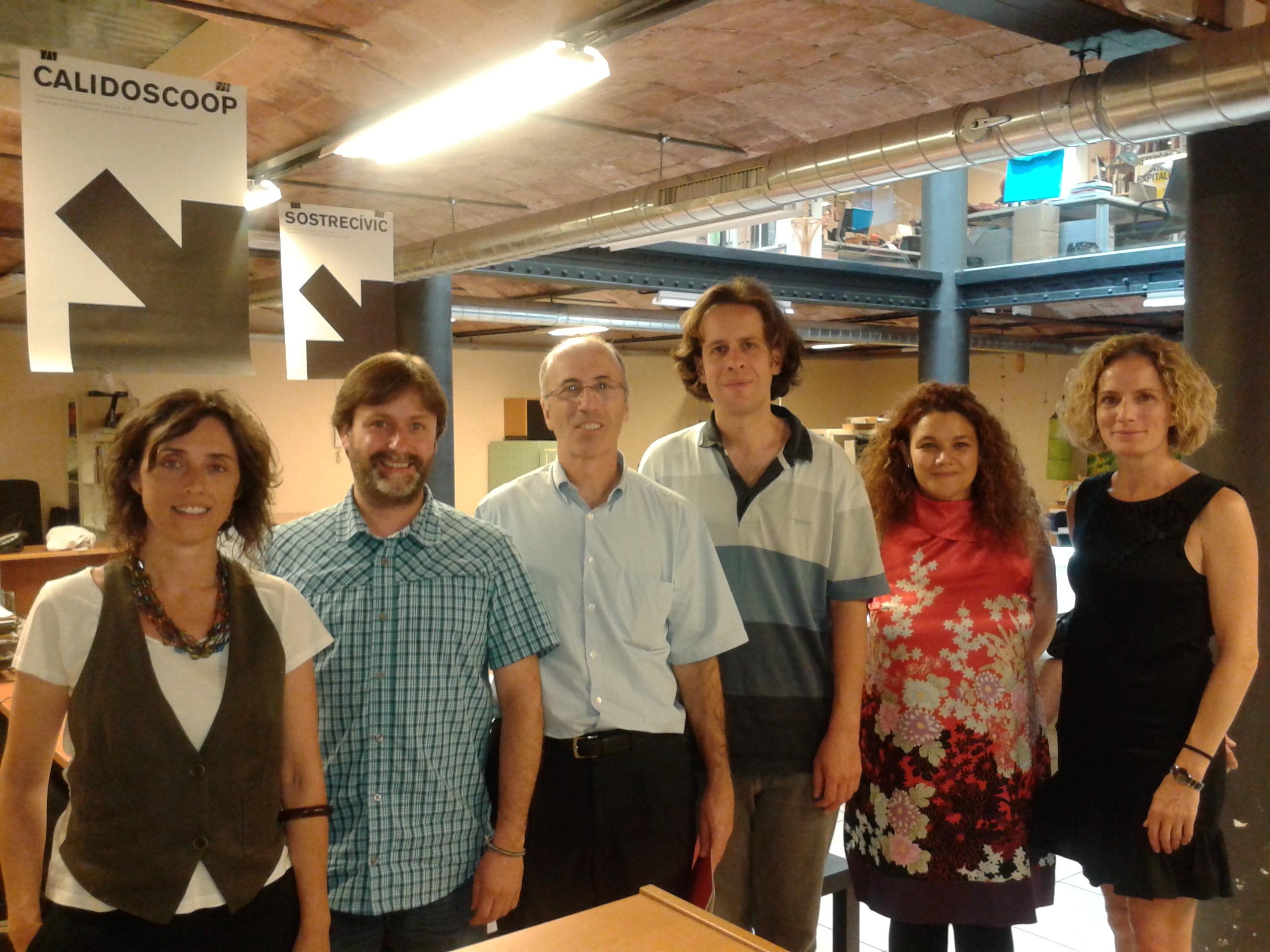 Foto del encuentro celebrado en Barcelona entre representantes de ANEL y Calidoscoop