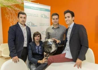 Ramón Sola, Alberto Aguado, Javier Guembe y Adrián Miranda