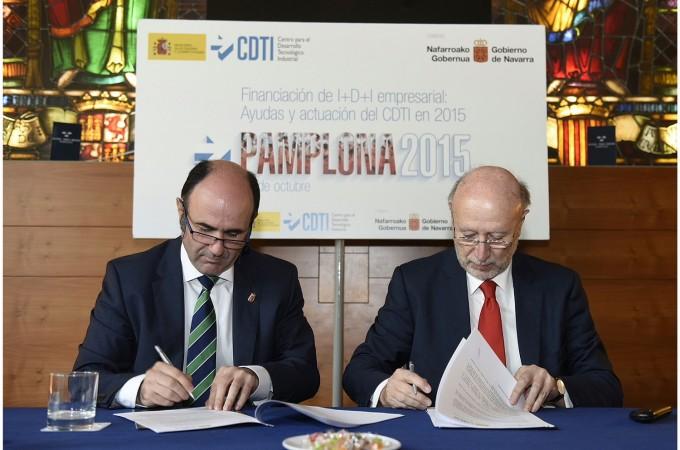 Gobierno foral y CDTI actualizan su convenio para impulsar la I+D+i