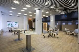 Interior nueva oficina A Caixabank Estella