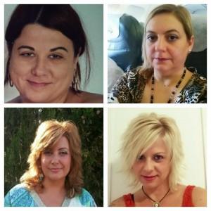 De izquierda a derecha y de arriba a abajo: Lucía, Matilde, Yanet y Sara Largo Perez.