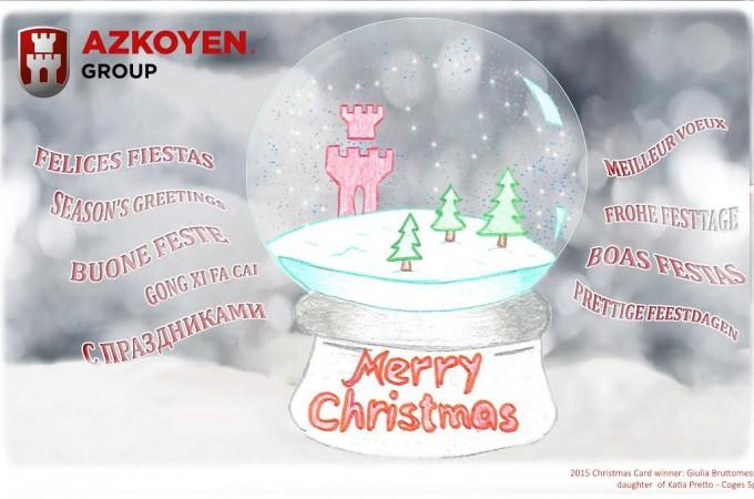 Azkoyen elige su postal navideña entre las diseñadas por los hijos de sus empleados