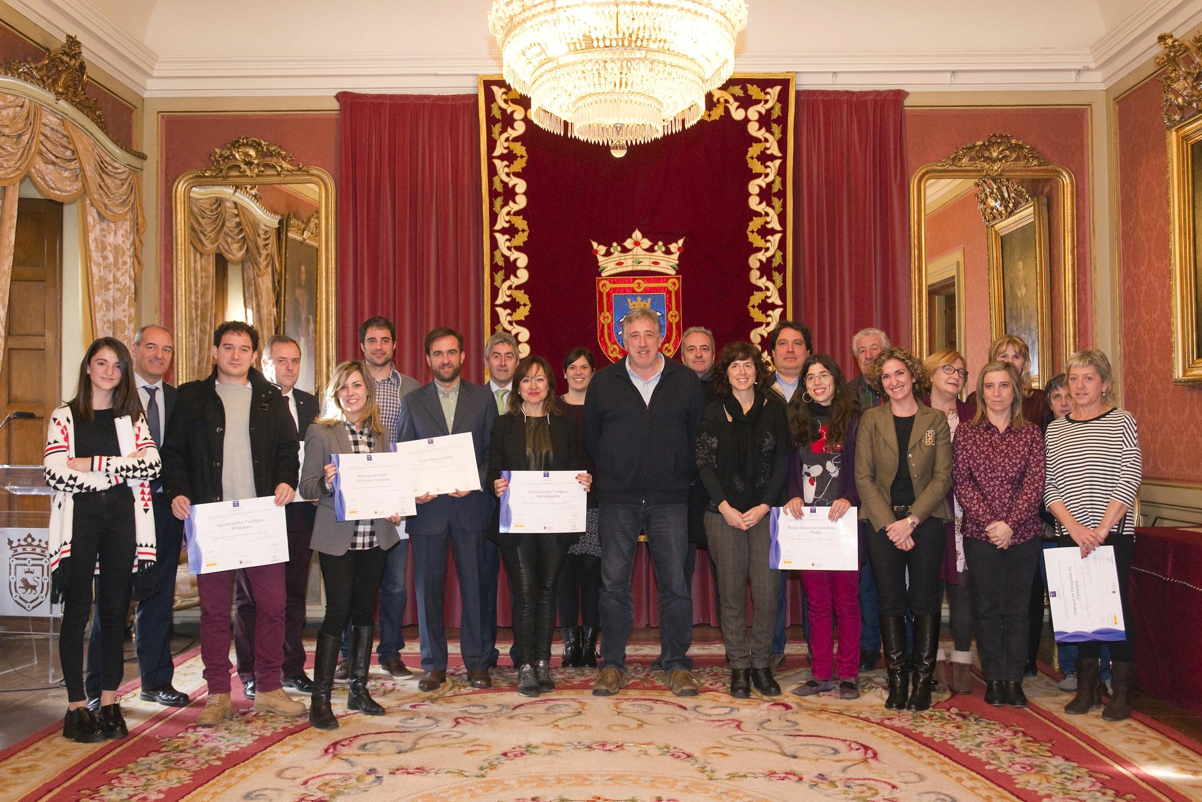 Diplomas SICTED Turismo Pamplona