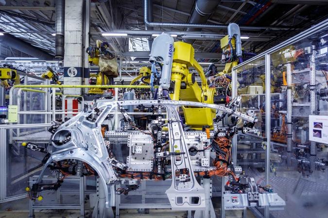 Instalaciones de chapistería de la fábrica de Volkswagen Navarra.