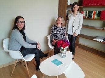 Maite Ruiz, Elena Sarasa y Amaya Sanz, de Mediación Navarra