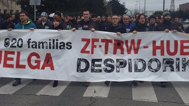 TRW manifestación