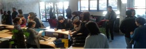 Emprendedores en CEIN antes de un taller