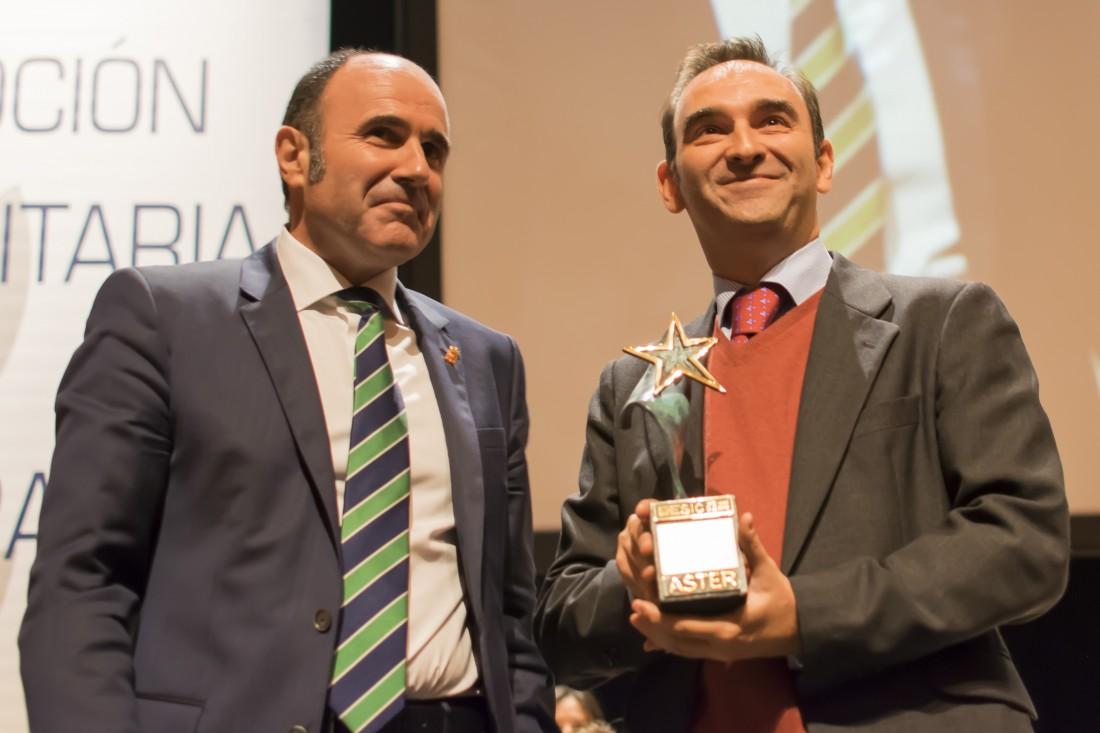 Un momento de la entrega de los Premios Aster el pasado año 2016.
