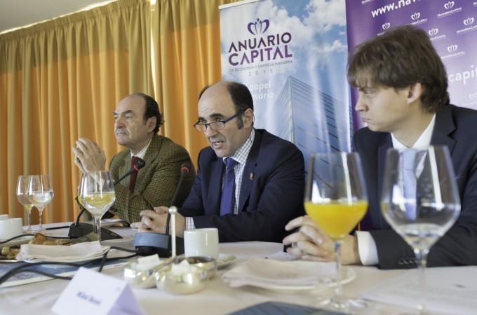 Ayerdi defiende la política económica del Gobierno ante empresarios navarros afincados en Madrid