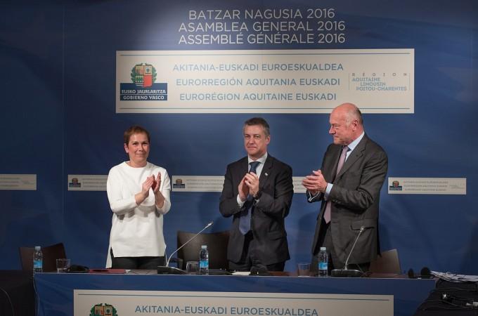 La incorporación de Navarra a la eurorregión Atlántica 'Aquitania-Euskadi' será efectiva en septiembre