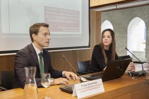 Fernández y Aldaba durante la sesión