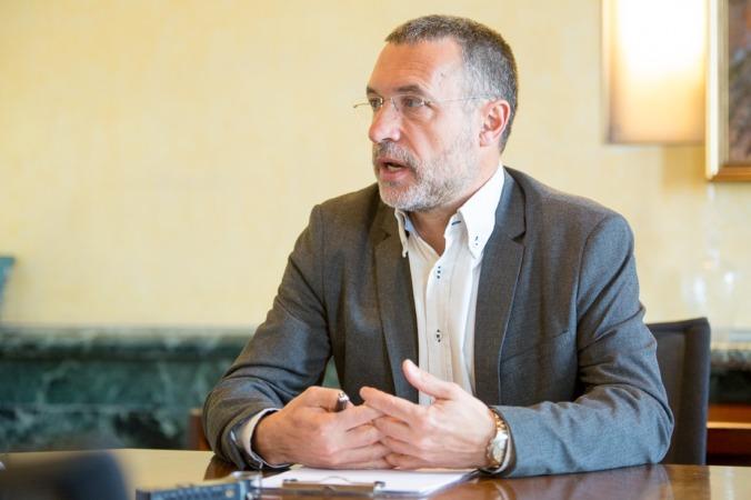 Imagen del Vicepresidente de Derechos Sociales, Miguel Laparra (Foto: Miguel Ciriza).