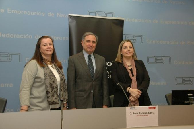 Belen Goñi, José Antonio Sarría y Ana Yerro