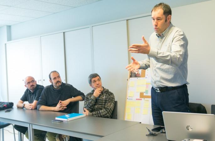 Imagen de un encuentro formativo con PYMEs